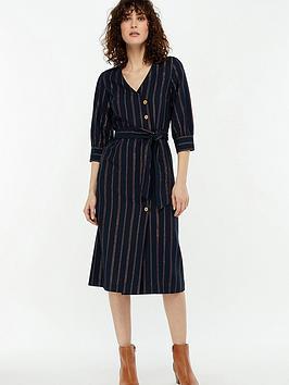 monsoon-pippa-stripe-shimmer-midi-dress-navy
