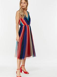 monsoon-simone-stripe-pleated-mesh-dress-navy