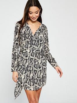 river-island-printed-swing-dress-grey
