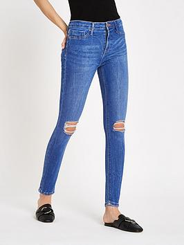 river-island-river-island-molly-distressed-knee-skinny-jeans-bright-blue