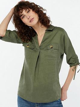 monsoon-manila-linen-overshirt-green