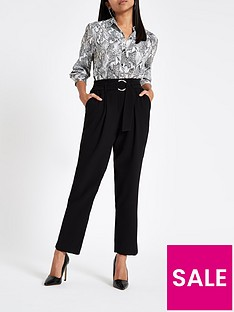ri-petite-ri-petite-ring-detail-tapered-trouser-black