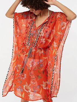monsoon-adita-printed-wow-beach-kaftan-orange