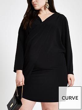 ri-plus-wrap-front-dress--black