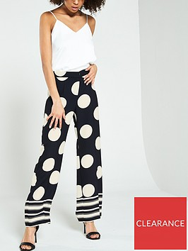 river-island-river-island-printed-wide-leg-trouser-black-spot