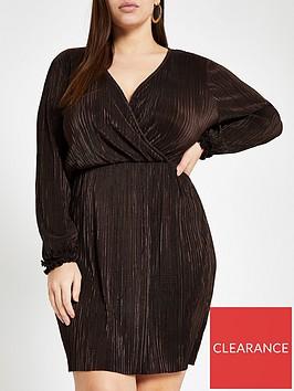 ri-plus-plisse-wrap-dress-chocolate