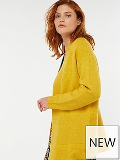 monsoon-reese-ribbed-edge-to-edge-cardigan-yellow