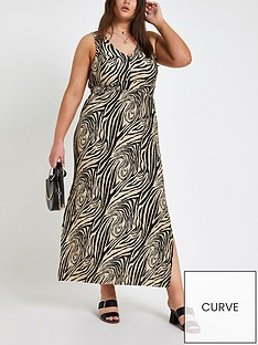 ri-plus-zebra-print-maxi-dress