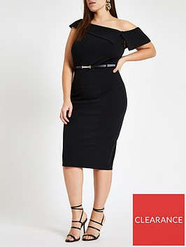 ri-plus-ri-plus-bardot-bodycon-midi-dress-black