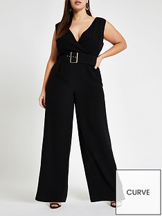 9d4697bb9581 RI Plus Belted Jumpsuit - Black