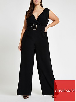 ri-plus-belted-jumpsuit-black