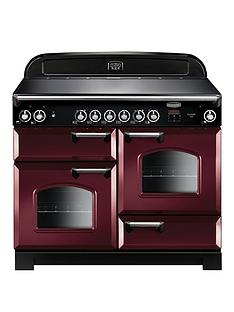 Rangemaster CLA110ECCY Classic Deluxe 110cmWide Electric Range Cooker with Ceramic Hob - Cranberry