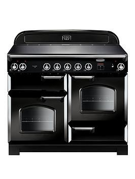 rangemaster-cla110eibl-classic-deluxe-110cmnbspwide-electric-range-cooker-with-induction-hob-black