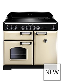 rangemaster-cdl100eicr-classic-deluxe-100cmnbspwide-electric-range-cooker-with-induction-hob-cream