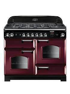 Rangemaster CLA110DFFCY Classic Deluxe 110cmWide Dual Fuel Range Cooker - Cranberry
