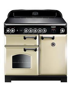 rangemaster-cla100eicr-classic-100cmnbspwide-electric-range-cooker-with-induction-hob-cream