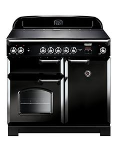 rangemaster-cla100ecbl-classic-100cmnbspwide-electric-range-cooker-with-ceramic-hob-black