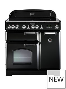 rangemaster-cdl90eibl-classic-deluxe-90cmnbspwide-electric-range-cooker-with-induction-hob-black