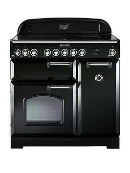 rangemaster-cdl90ecbl-classic-deluxe-90cmnbspwide-electric-range-cooker-with-ceramic-hob