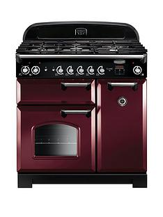 Rangemaster  CLA90DFFCY Classic 90cm Wide Dual Fuel Range Cooker - Cranberry