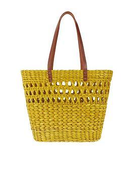 monsoon-oti-open-weave-straw-basket-bag-yellow