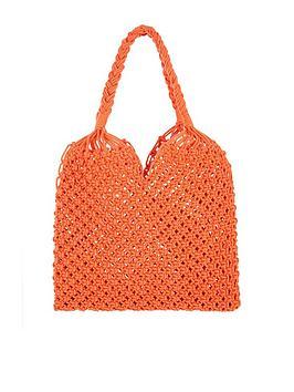 monsoon-marlow-macrame-shopper-bag-orange