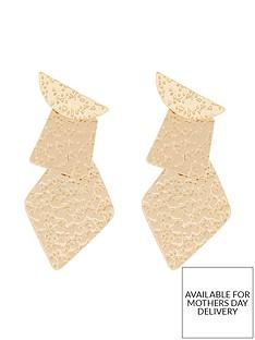 monsoon-hammered-geo-earrings-gold