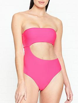 frankies-bikinis-carter-cut-out-neon-swimsuit-pink