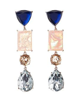 river-island-river-island-irredescent-jewel-drop-earrings-gold