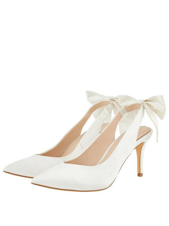 4054ef87756f Monsoon Bridal Bea Bow Pointed Sling Back Shoes - Ivory