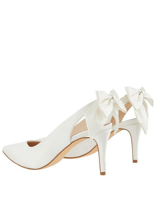 95571c02df4a ... Monsoon Bridal Bea Bow Pointed Sling Back Shoes - Ivory. View larger