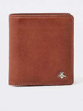 river-island-brown-tan-wasp-embellished-fold-out-wallet