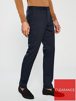 river-island-edward-texture-slim-navy-trousers