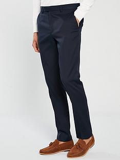 river-island-edward-texture-skinny-navy-trousers