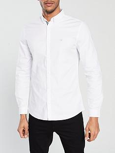 river-island-white-oxford-stretch-long-sleeve-shirt