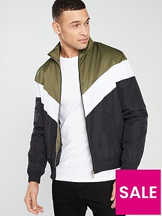river-island-chevron-padded-liner-jacket
