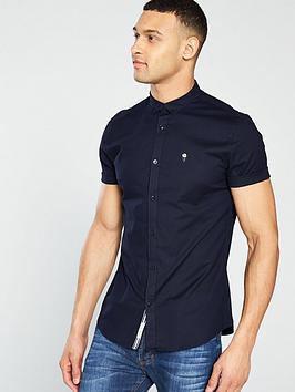 river-island-ss-navy-oxford-stretch-shirt
