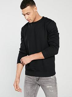 river-island-black-basic-crew-neck-sweat