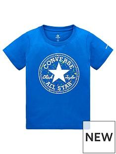 048e0a175dd8 Converse Boys Splatter Print Fill T-Shirt - Blue