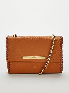 Ted Baker Cassiia Concertina Stitch Detail Cross Body - Tan  bf2ca5b50e85b