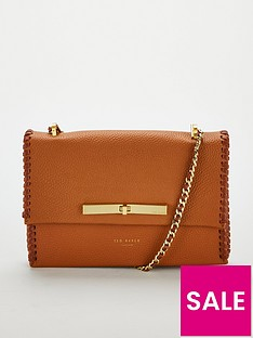 ted-baker-cassiia-concertina-stitch-detailnbspcross-body-tan