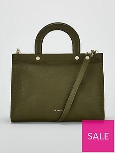 bc9790a7f05 Ted Baker Monicaa Stab Stitch Midi Tote Bag - Green