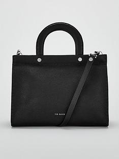 ted-baker-monicaa-stab-stitch-midi-tote-black