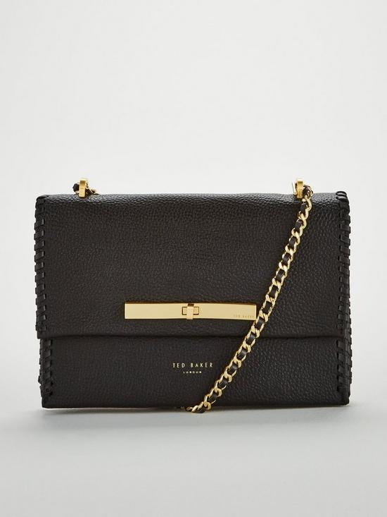 8db42f0ae Ted Baker Cassiia Concertina Stitch Detail Cross Body - Black | very ...