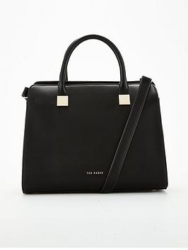 ted-baker-ted-baker-trudy-rolled-handle-black-tote-bag
