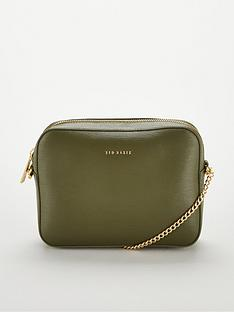 Ted Baker Juliie Leather Cross Body Camera Bag - Green 592a5791e8b68