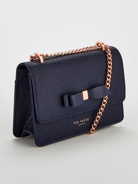 ae728f25de7f ... Ted Baker Jayllaa Bow Detail Chain Crossbody Bag - Navy. View larger