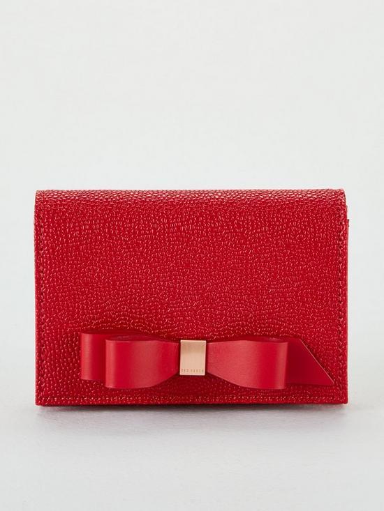 6d77ea77e Ted Baker Leonyy Bow Flap Mini Purse - Red