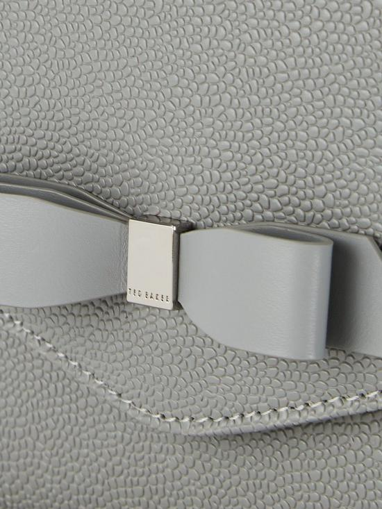 ec97c2bf3 ... Ted Baker Krystan Bow Leather Envelope Pouch Clutch Bag - Grey. View  larger