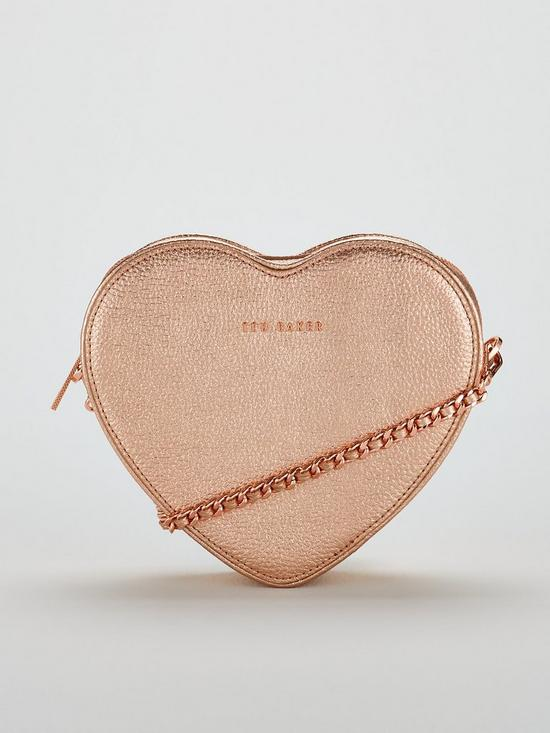 1300f879ee29dc Ted Baker Amellie Heart Cross Body Bag - Rose Gold